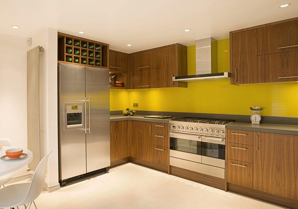 fitting your splashback, yellow kitchen, DIY splashback
