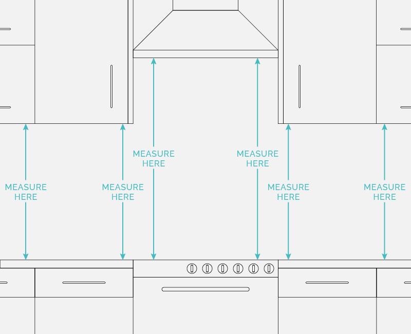 measure for your kitchen splashback diagram.