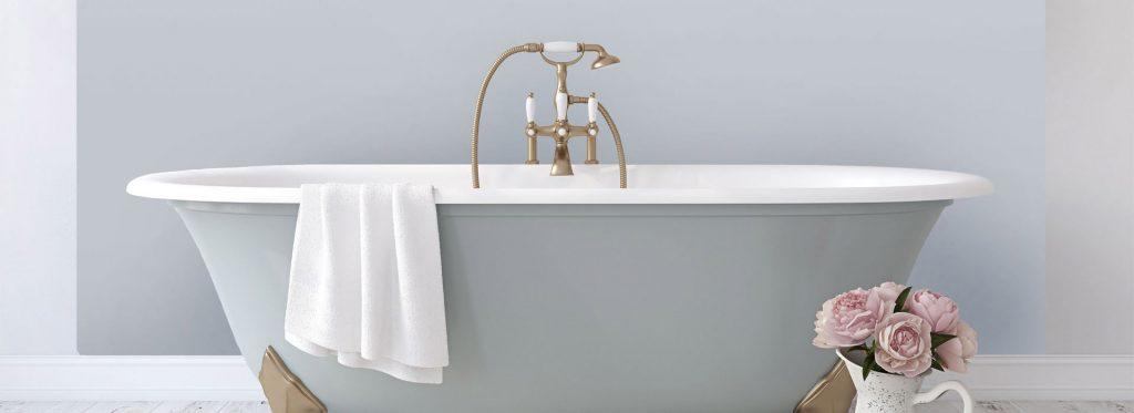 Pastel blue bathroom splashback. pastel blue, backsplash with pink roses. how to update your kitchen