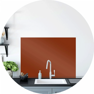 Aged Terra cotta Glass Splashback