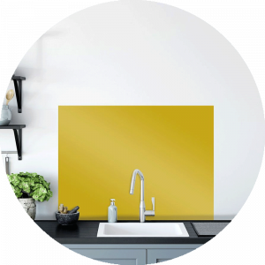 Banana Glass Splashback