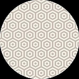 Bold Hexagon Pattern
