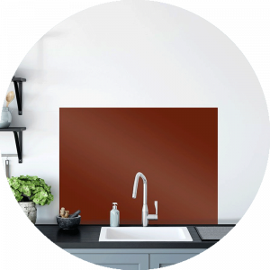 Burnt Safari Glass Splashback
