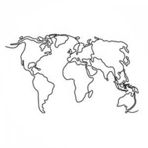 Continuous World Map