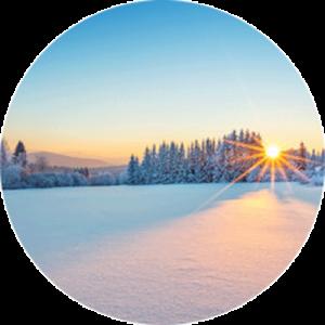 Crisp Nordic Sunrise Splashback