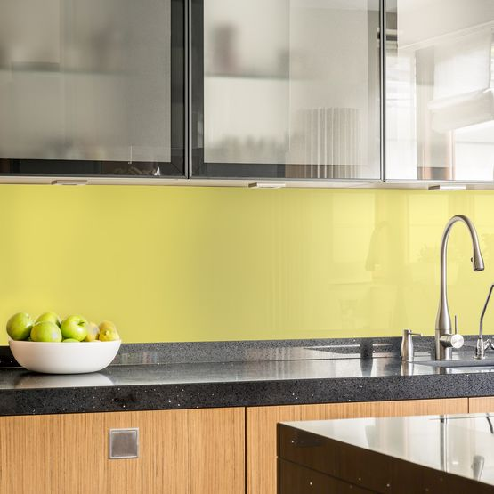 pastel coloured kitchen