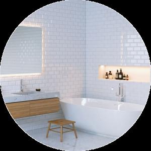 Embossed white Tile