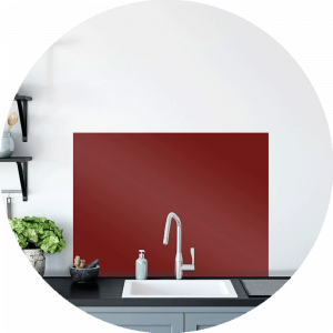French Kiss Glass Splashback