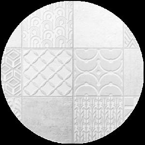 Geometric Cement printed tile Splashback