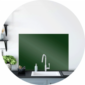 Green Fern Glass Splashback