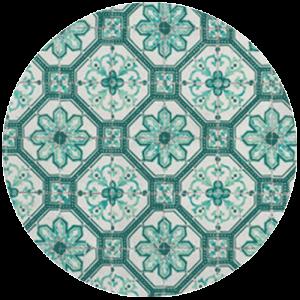 Green Mosaic Tile Pattern Splashback