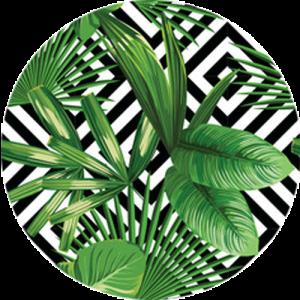 Jungle and Geometric Pattern
