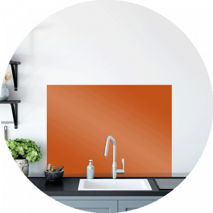 Kumquat Glass Splashback Sample