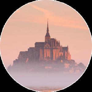 Le Mont Saint Michel at Sunrise Splashback