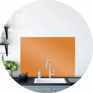 Orange blossom Glass Splashback