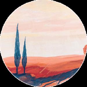Painted Tuscan Landscape Splashback