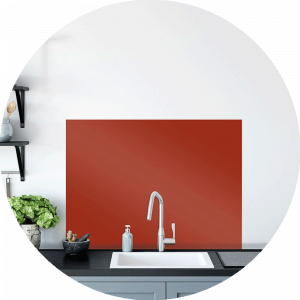 Poppy Glass Splashback