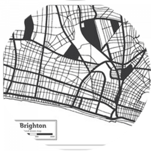 Retro Brighton Map