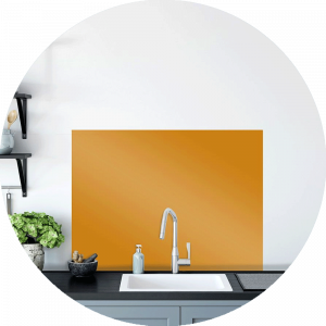 Saffron Glass Splashback