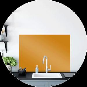 Saffron Glass Splashback Sample