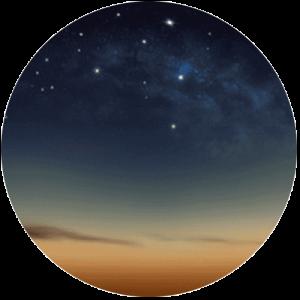 Sunset Sky With Stars
