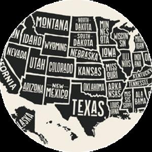 USA Poster Map