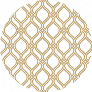 White and Gold Wave Pattern