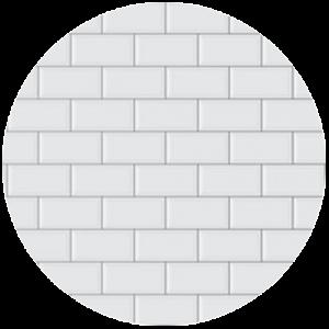White Printed Tile Splashback