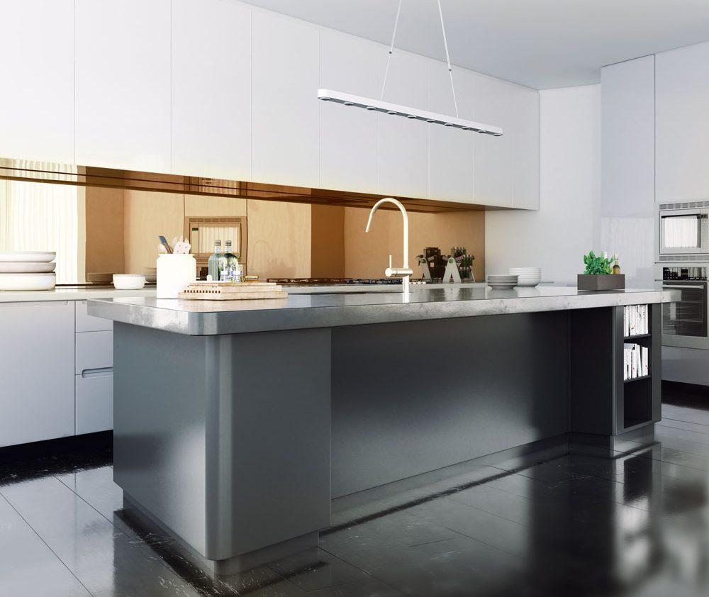 Mirror splashback kitchen